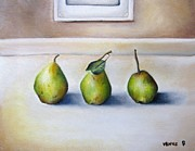 French Pears Prints - Three Pears Print by Venus