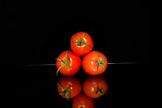 Food And Drink Originals - Three red tomatoes stacked by Tommy Hammarsten