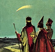 Comet Paintings - Three Wise Men by English School