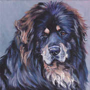 Tibetan Paintings - Tibetan Mastiff by Lee Ann Shepard