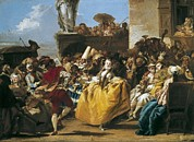 Ballet Dancers Art - Tiepolo, Giovanni Domenico 1727-1804 by Everett