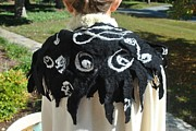 Black And White Tapestries - Textiles - Tim Burton shawl by Mirinda Reynolds