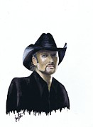 Tim Mcgraw Paintings - Tim McGraw by Jerry Bates