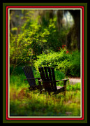 Decorative Benches Photo Framed Prints - Time for Coffee Framed Print by Susanne Van Hulst