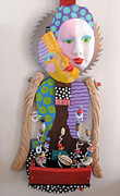 Fun Sculpture Originals - Time To Smell The Flowers  by Keri Joy Colestock