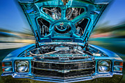 Blue Car Framed Prints - Time Warp Framed Print by Bill  Wakeley
