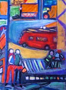 Trucks Pastels - Times Square by Lorrie Sniderman