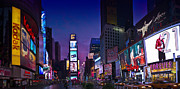 Pink Sunrise Framed Prints - Times Square NYC Framed Print by Melanie Viola
