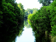 Indiana Rivers Photo Metal Prints - Tippecanoe River West Metal Print by Tina M Wenger