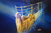 Wreck Originals - Titanic in the deep mist by Ottilia Zakany