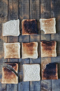Burned Prints - Toast Print by Joana Kruse
