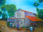 Overalls Originals - Tobacco Barning Days by Linda Bright Toth
