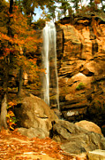 October Framed Prints - Toccoa Falls Framed Print by Darren Fisher