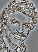 Advertising Prints Mixed Media Prints - Tom Selleck in 1984 Print by J McCombie