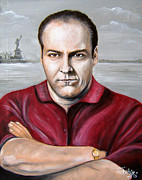 Soprano Painting Framed Prints - Tony Soprano Framed Print by Patrice Torrillo