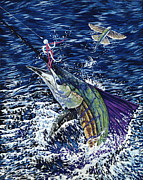 Sailfish Painting Originals - Top Sail by Danielle  Perry