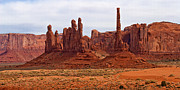 Buttes Framed Prints - Totem Pole Buttes Framed Print by Peter Tellone