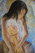 Lovers Paintings - Touch of an Angel by Nik Helbig