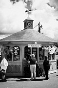 Small Village Framed Prints - Tourist Kiosk Shop Selling Ice Creams And Souvenirs In The Harbour At Courtown Framed Print by Joe Fox