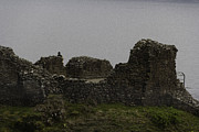 Tourist Attraction Digital Art - Tourist visible at the battered remains of the Urquhart Castle by Ashish Agarwal