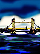 Building Digital Art Originals - Tower Bridge London by Manavi Singhal