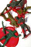 Bloodshed Prints - Toy Soldiers in a Pool of Blood Print by Amy Cicconi