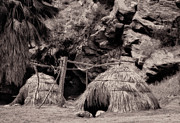 Traditional Cahuilla Indian Huts Print by Sandra Selle Rodriguez