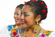 Traditional Ethnic Dancers In Chiapas Mexico Print by David Smith