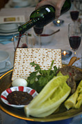 Lettuce Photos - Traditional sedder table by Ilan Rosen