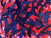 Red White Blue Paintings - Transitions VII by Dean  Triolo