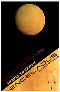 Space Travel Posters - Travel to Enceladus Poster by Cinema Photography