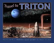 Astronomical Art Framed Prints - Travel to Triton Framed Print by Tharsis  Artworks