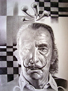 Tribute To Salvador Dali Print by Enric Bug