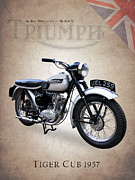 Bsa Prints - Triumph Tiger Cub Print by Mark Rogan