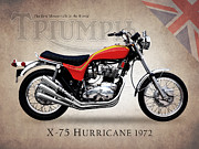 Bsa Prints - Triumph X-75 Hurricane Print by Mark Rogan