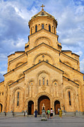 Sameba Photos - Tsminda Sameba Cathedral Tbilisi by Robert Preston