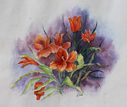 Janet Felts Framed Prints - Tulips Framed Print by Janet Felts