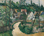 Famous Artists - Turn in the Road by Paul Cezanne