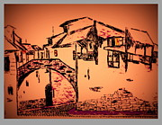 Medieval Pastels Prints - Tuscany at Dawn Print by Bill OConnor
