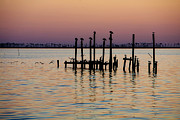 Biloxi Framed Prints - Twilight Colors Framed Print by Joan McCool