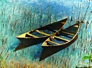Canoes Digital Art - Twins by Gun Legler