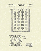 Sheet Framed Prints - Twister Game 1969 Patent Art Framed Print by Prior Art Design
