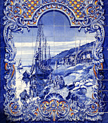 Municipal Posters - Typical Portuguese Azulejos Poster by Jose Elias - Sofia Pereira