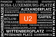 U Bahn Metro U2 Berlin Print by Art Photography