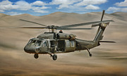 Iraq Conflict Prints - UH-60 Blackhawk Print by Dale Jackson