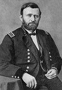 Civil War Photos Posters - Ulysses S Grant Poster by American School