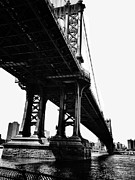 Iconic Architecture Posters - Under the Manhattan Bridge Poster by Natasha Marco