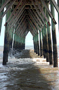 At Poster Digital Art Metal Prints - Under the Pier Metal Print by Suzanne Gaff