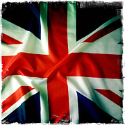Background Photo Posters - Union Jack Poster by Les Cunliffe