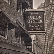 Faneuil Hall Prints - Union Oyster House Print by Joann Vitali